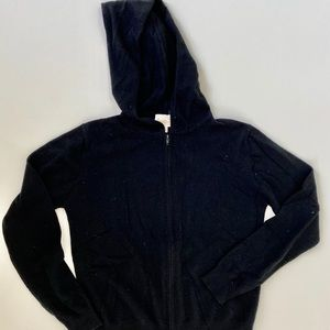 100% cashmere black hoodies size small new